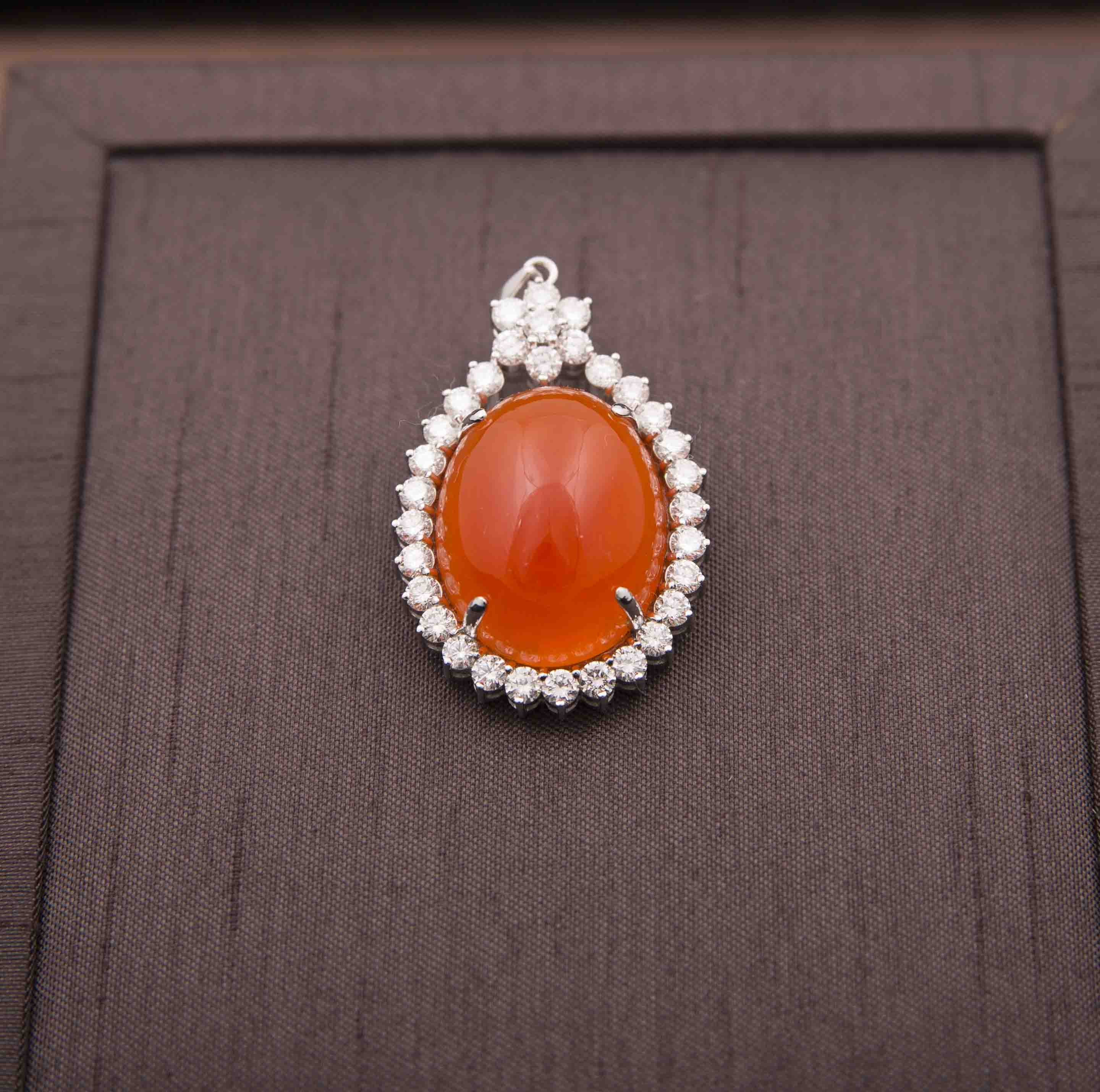 pendant box mexican gold product fire opal jewelry yellow the cabachon
